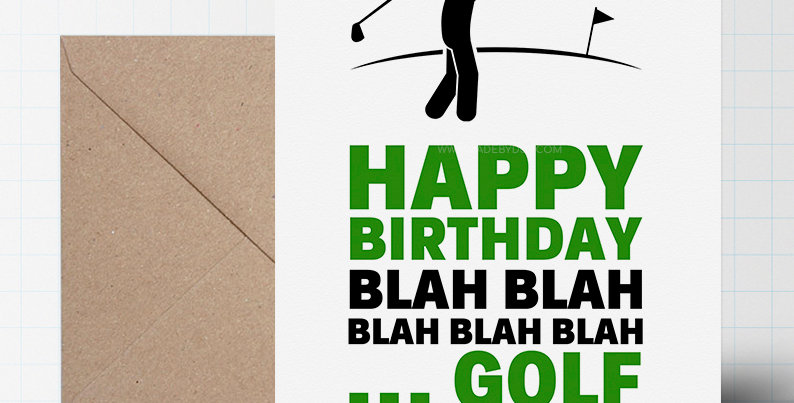 Greeting Card - Golf Themed - A5 size
