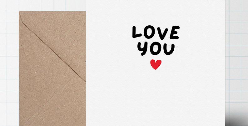 Greeting Card - Minimalist Love Themed - A5 size