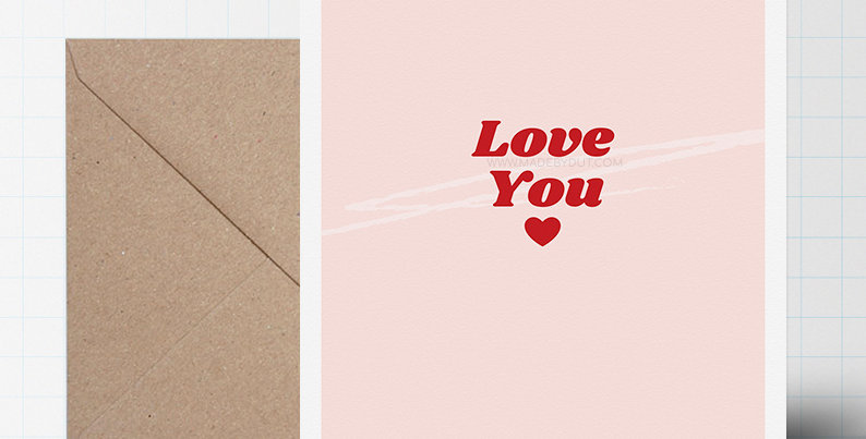 Greeting Card - Love Themed - A5 size