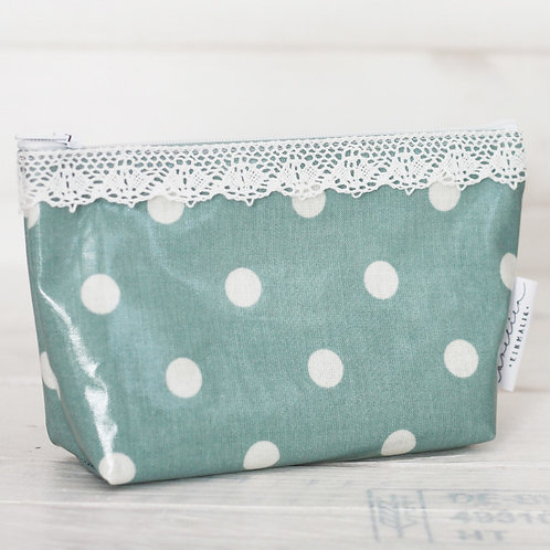 necessaire *big dots ice green*