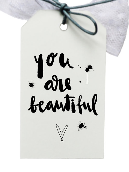 tag *you are beautiful* weiss