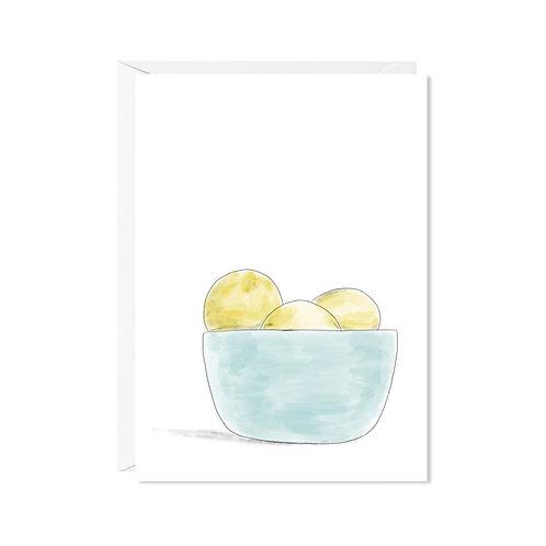 karte mini *citronen*