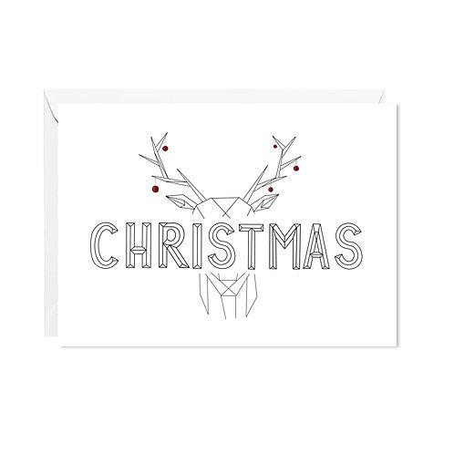 karte mini *christmas hirsch*