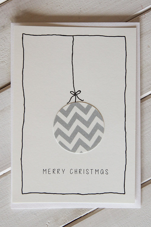 karte spezial *weihnachtskugel*
