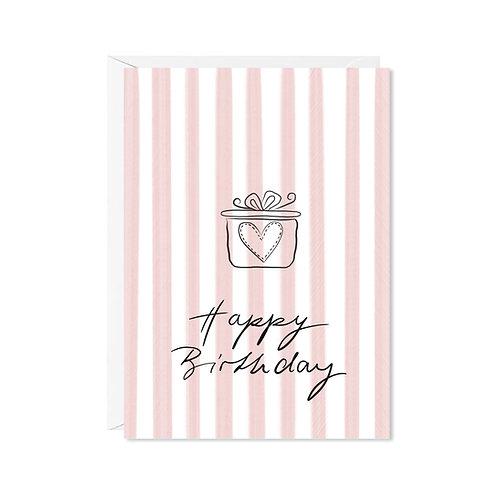 karte mini *happy geschenk*