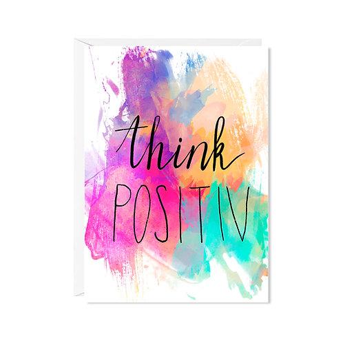 karte mini *think positiv*