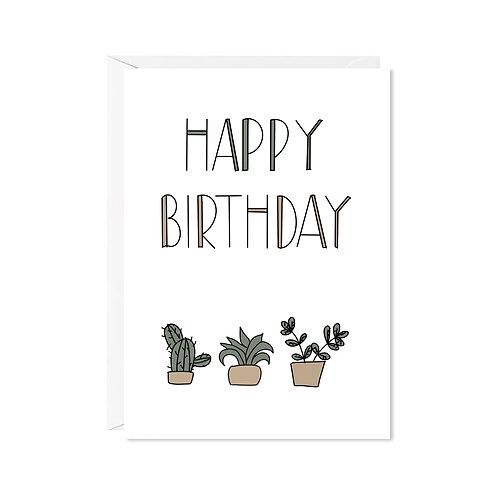 karte mini *happy kaktus*