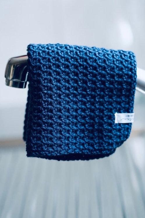 washcloth *dunkelblau*