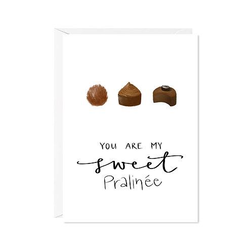 karte mini *sweet pralinée*