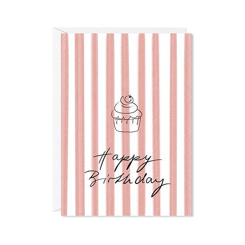 karte mini *happy cupcake