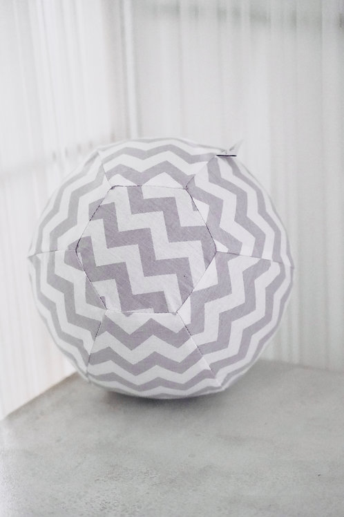 Luftballonball *stripes-grey*