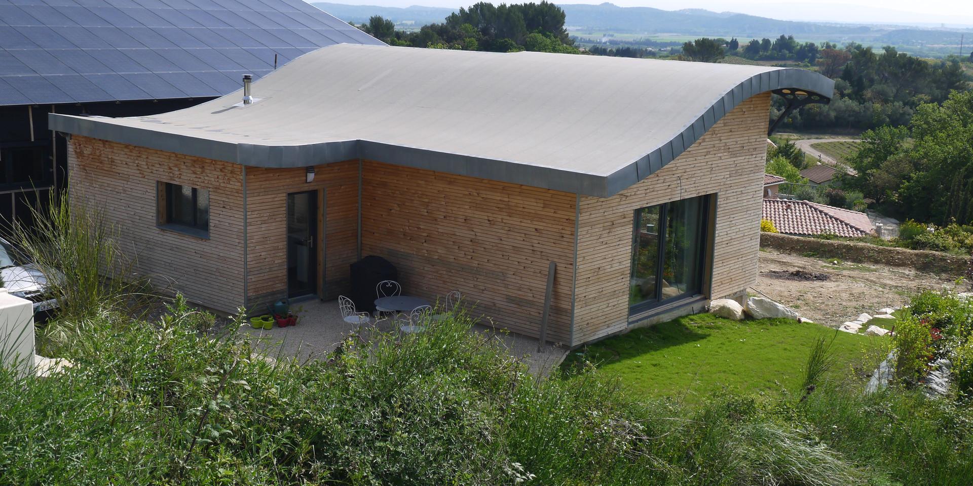 Maison solaire de rochefort gard