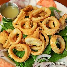 Calamari & spinach salad
