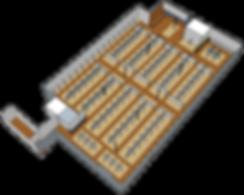 Lone Star Mercantile 3D model of floor plan