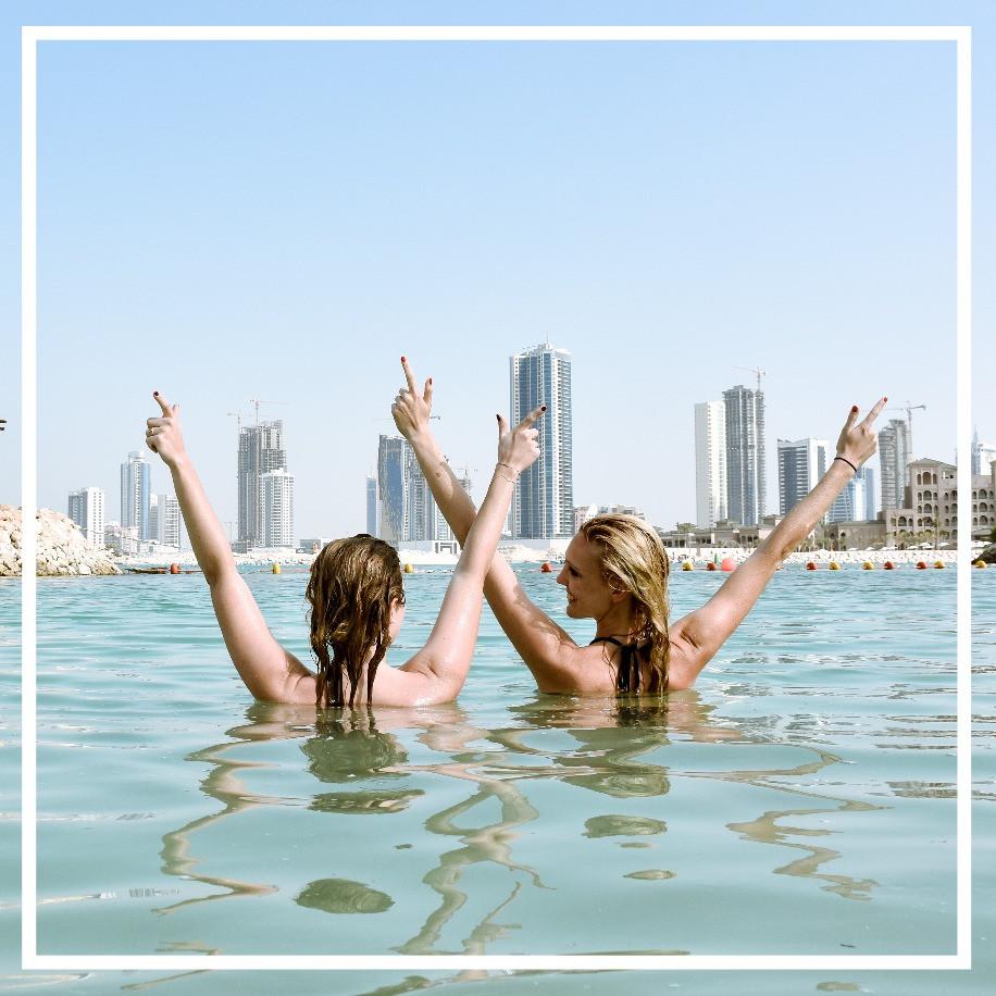 Bahrain, Meer, Girls