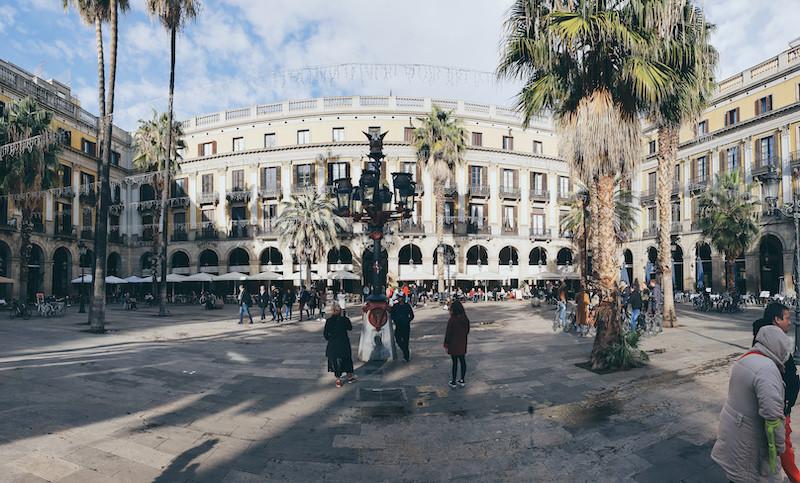 Gaudi, Barcelona, Brunnen