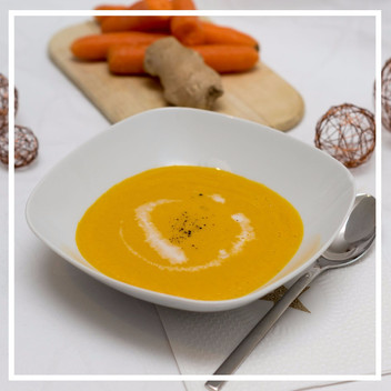 Karotten-Ingwer Suppe mit Kokos