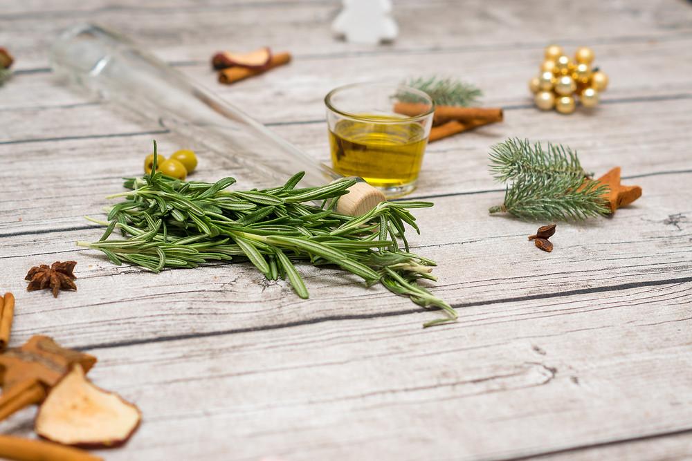 Deko, Glas, Olivenöl