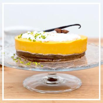Roh- veganer Kürbis-Orangen Cake