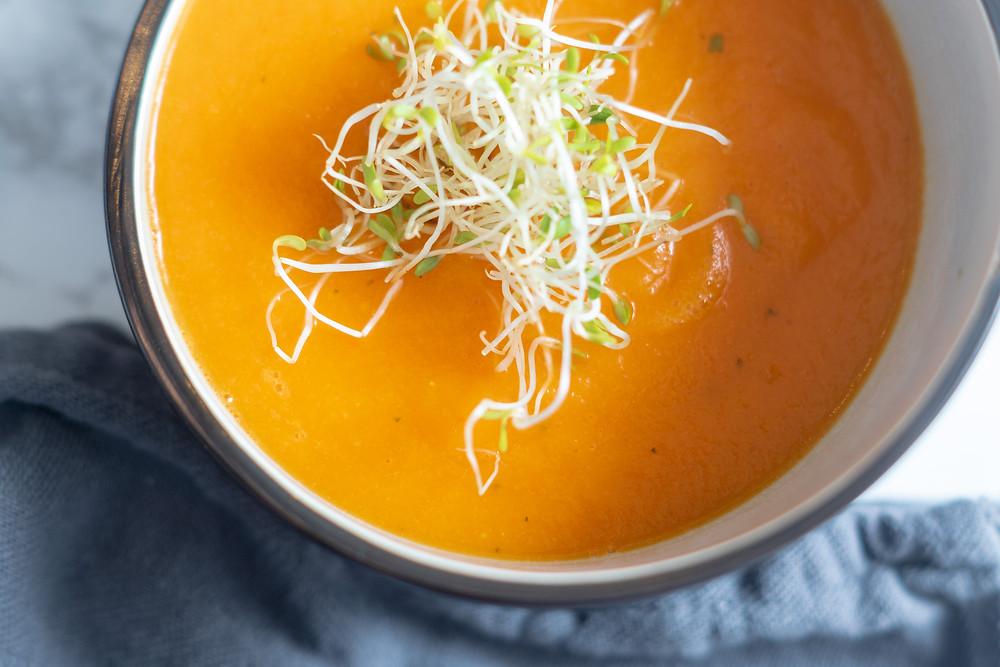 Sprossen, Suppe, Paprika - Gelbe Rüben