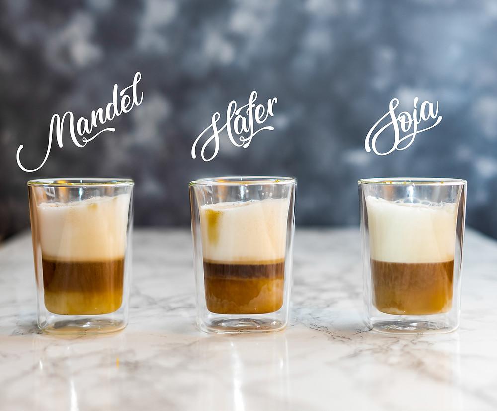 Qbo Tchibo, Kaffeetest, Mandelmilch