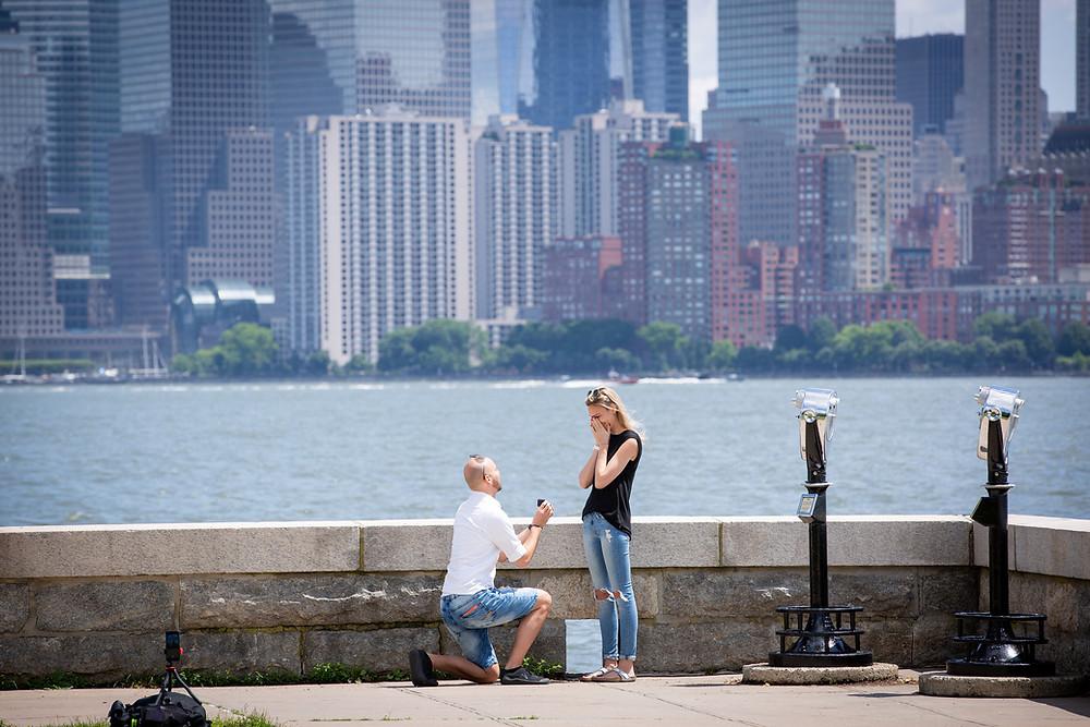 Hochzeitsantrag, Manhatten, Ellis Island