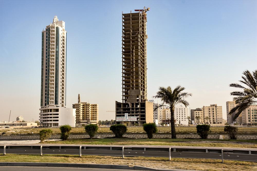 Bahrain, Wolkenkratzer, Baustelle