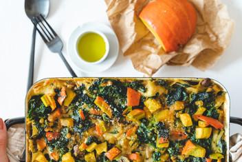 Kürbis- Spinat Lasagne