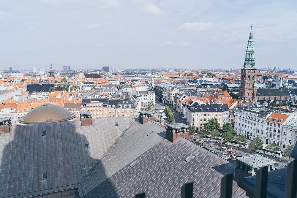aussichtsplattform, turm, kopenhagen, Turm von Christiansborg