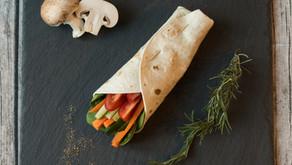 Gemüse – Hummus – Wrap: der Alleskönner
