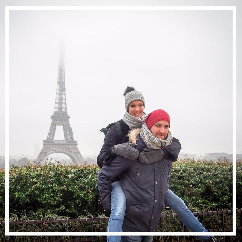 Paar, Eifelturm Paris