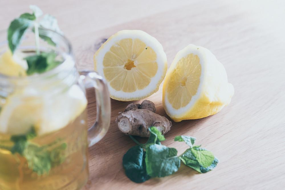 Zitrone, Limonade, Minze