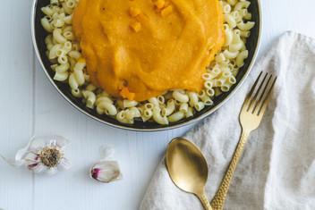 Kürbis Mac'n'cheese