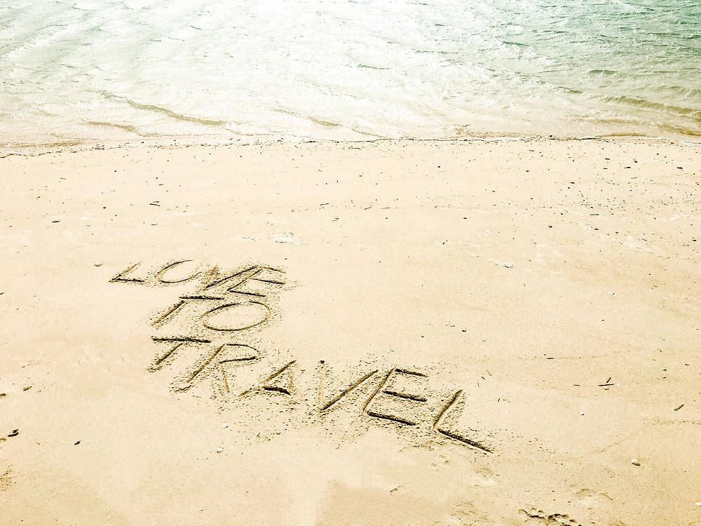 Sand, Reisen, Schrift