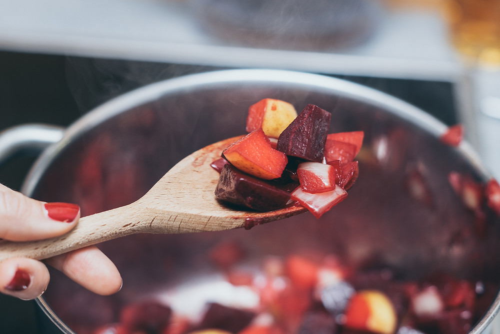 Kochlöffel, Rote Rübe, Suppe