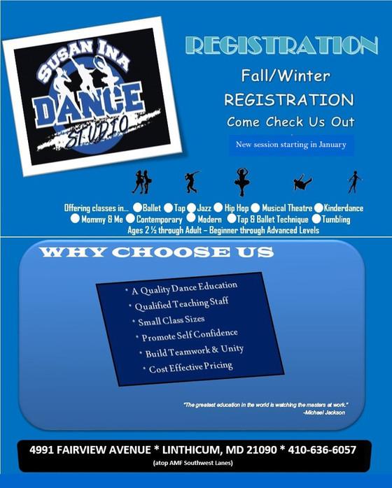 Fall/Winter Registration