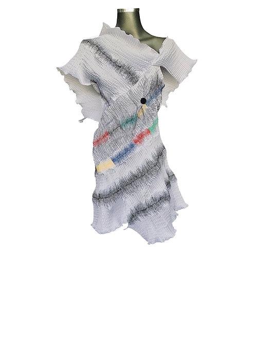 Lv/5585 Vestido com tiras Helicoidais e Bordados
