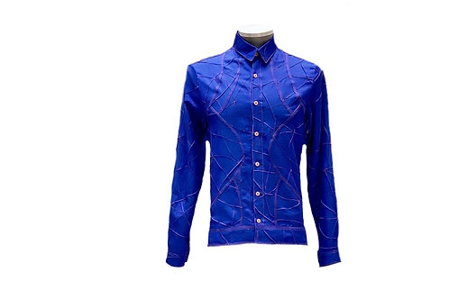 Camisa manga longa com recortes e nervurada