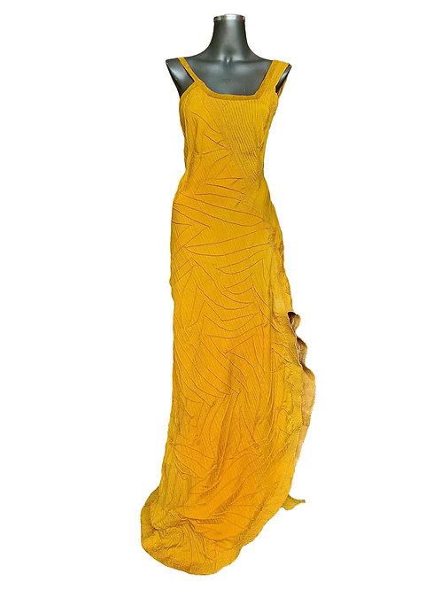 Lv/5582 Vestido Longo Estruturado  Matelassê