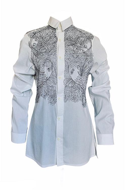 """Mlv/3259 Camisa com Bordados """"Carpa"""""""