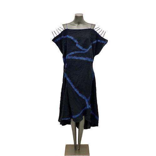 VLL/0440 - Vestido Com Nervuras e bordado