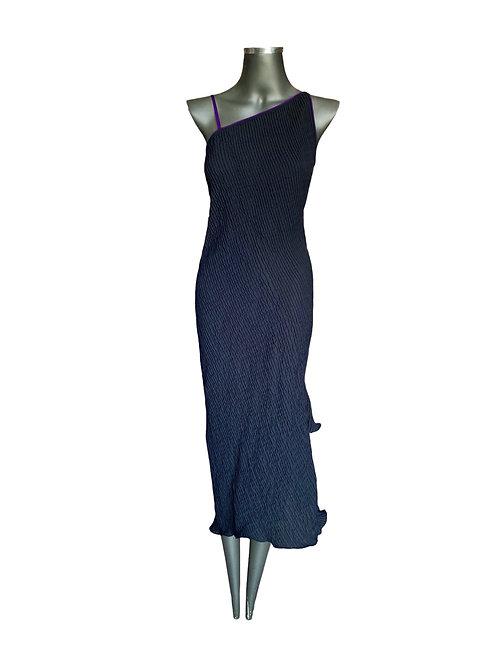 Lv/5590 Vestido Clássico  Nervurado