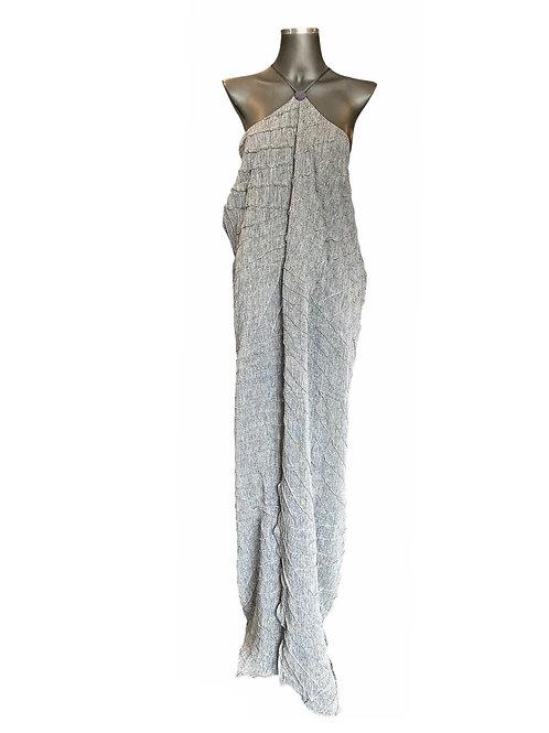 Vestido Linho com Nervuras
