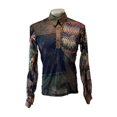 Camisa Upcycling Patchwork
