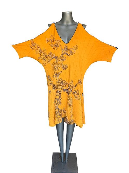 Vestido Viscose com Nervuras bordado