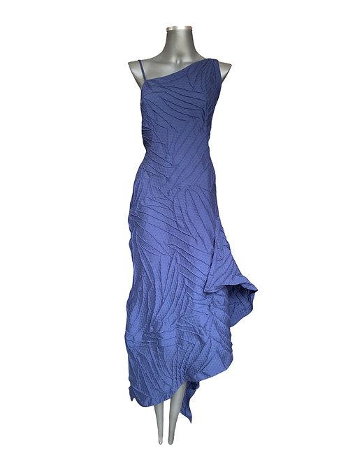 Lv/5618 Vestido Ombro Único  Assimétrico Folie