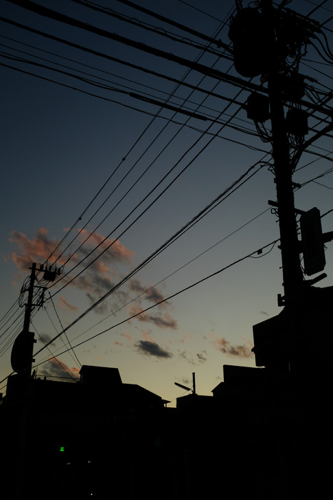Electric wire and sunset