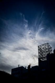 Disturbing blue sky