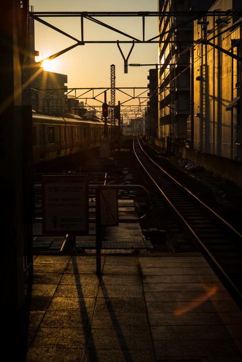 Chuo Line sunset