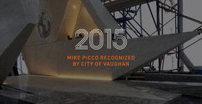 Mike Picco Receives Recognition at City of Vaughan